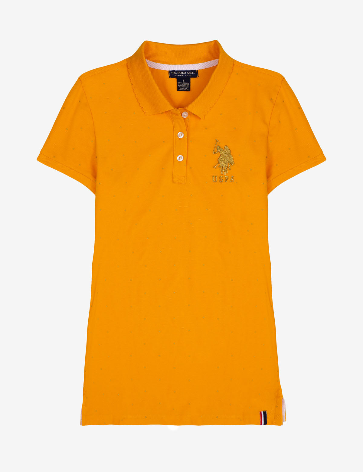 FOIL DOT SCALLOP COLLAR POLO SHIRT - U.S. Polo Assn.