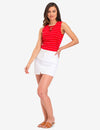 STRIPED LACE UP TOP - U.S. Polo Assn.