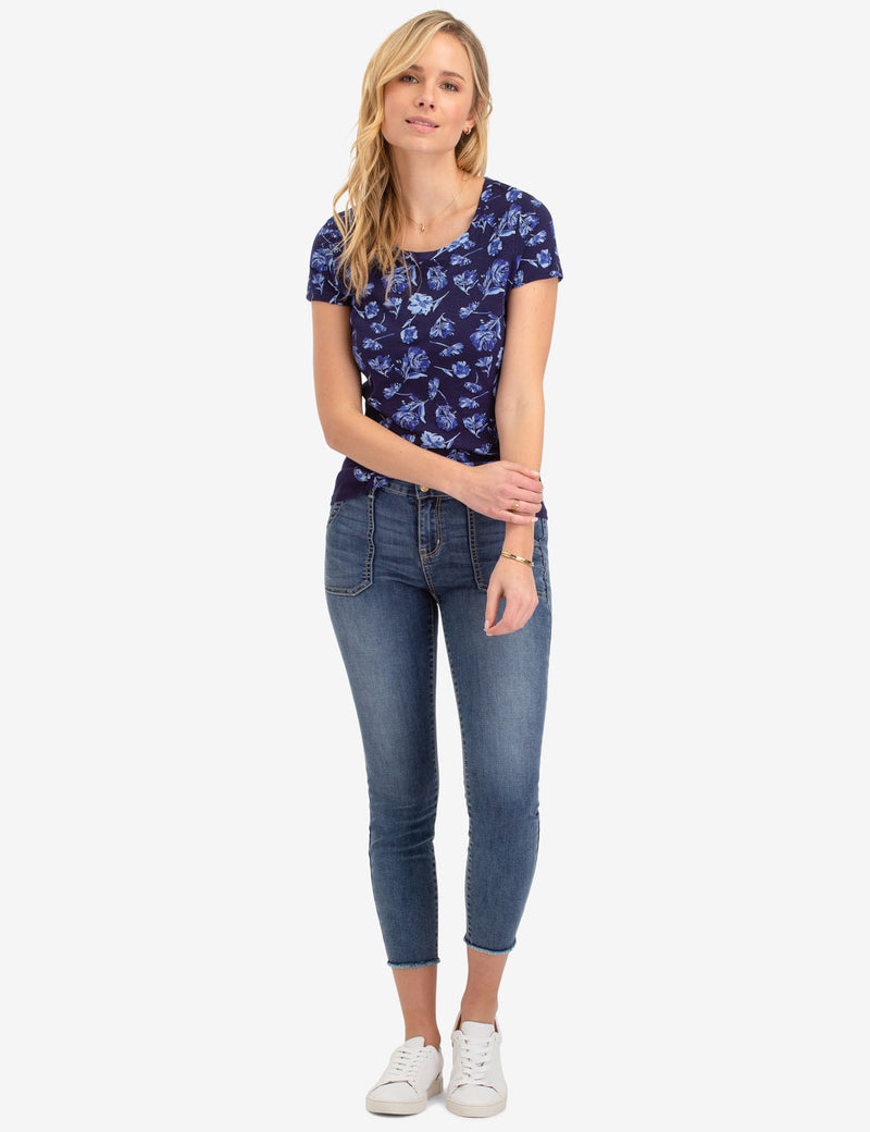 FLORAL PRINT SIDE RIB TOP - U.S. Polo Assn.