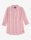 MANDARIN COLLAR STRIPED LONG SLEEVE SHIRT - U.S. Polo Assn.