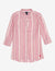 MANDARIN COLLAR STRIPED LONG SLEEVE SHIRT