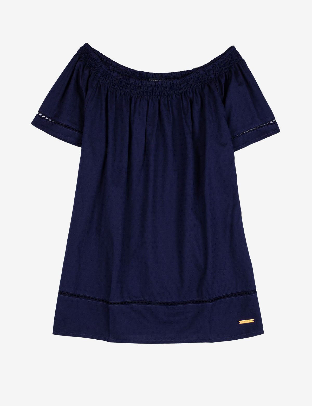 OFF THE SHOULDER TASSLE SHIRT