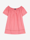 OFF THE SHOULDER TASSLE SHIRT - U.S. Polo Assn.
