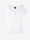 EYELET PEASANT TOP - U.S. Polo Assn.
