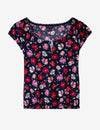 FLORAL PRINT PEASANT TOP - U.S. Polo Assn.