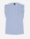 LUREX STRIPED RUFFLE TOP - U.S. Polo Assn.