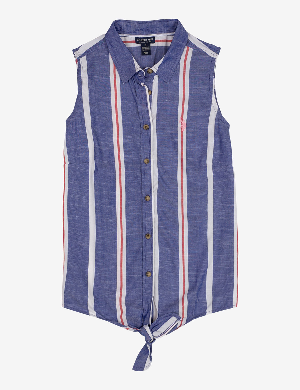 STRIPED TIE FRONT SHIRT - U.S. Polo Assn.