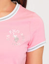 LUREX METALLIC RINGER T-SHIRT - U.S. Polo Assn.