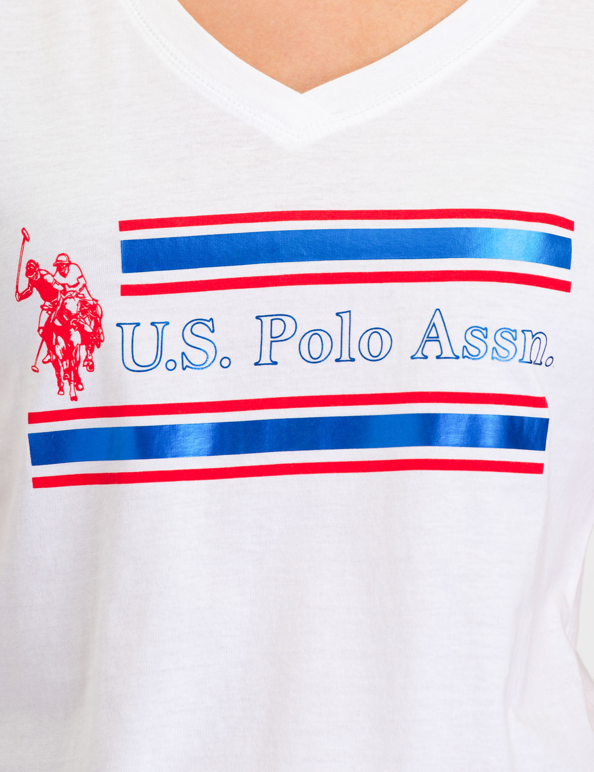 USPA FOIL STRIPED GRAPHIC T-SHIRT - U.S. Polo Assn.