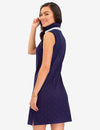 SLEEVELESS DOT POLO DRESS - U.S. Polo Assn.