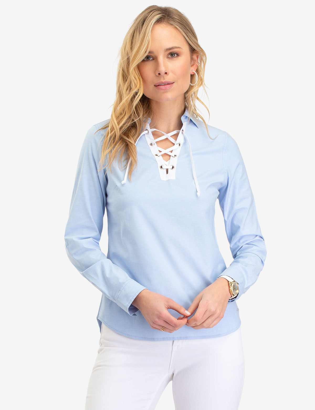 LACE UP OXFORD SHIRT - U.S. Polo Assn.