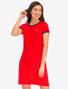 MULTI TONAL SMALL LOGO RINGER T-SHIRT DRESS - U.S. Polo Assn.