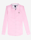 MULTI TONAL SMALL LOGO OXFORD SHIRT - U.S. Polo Assn.