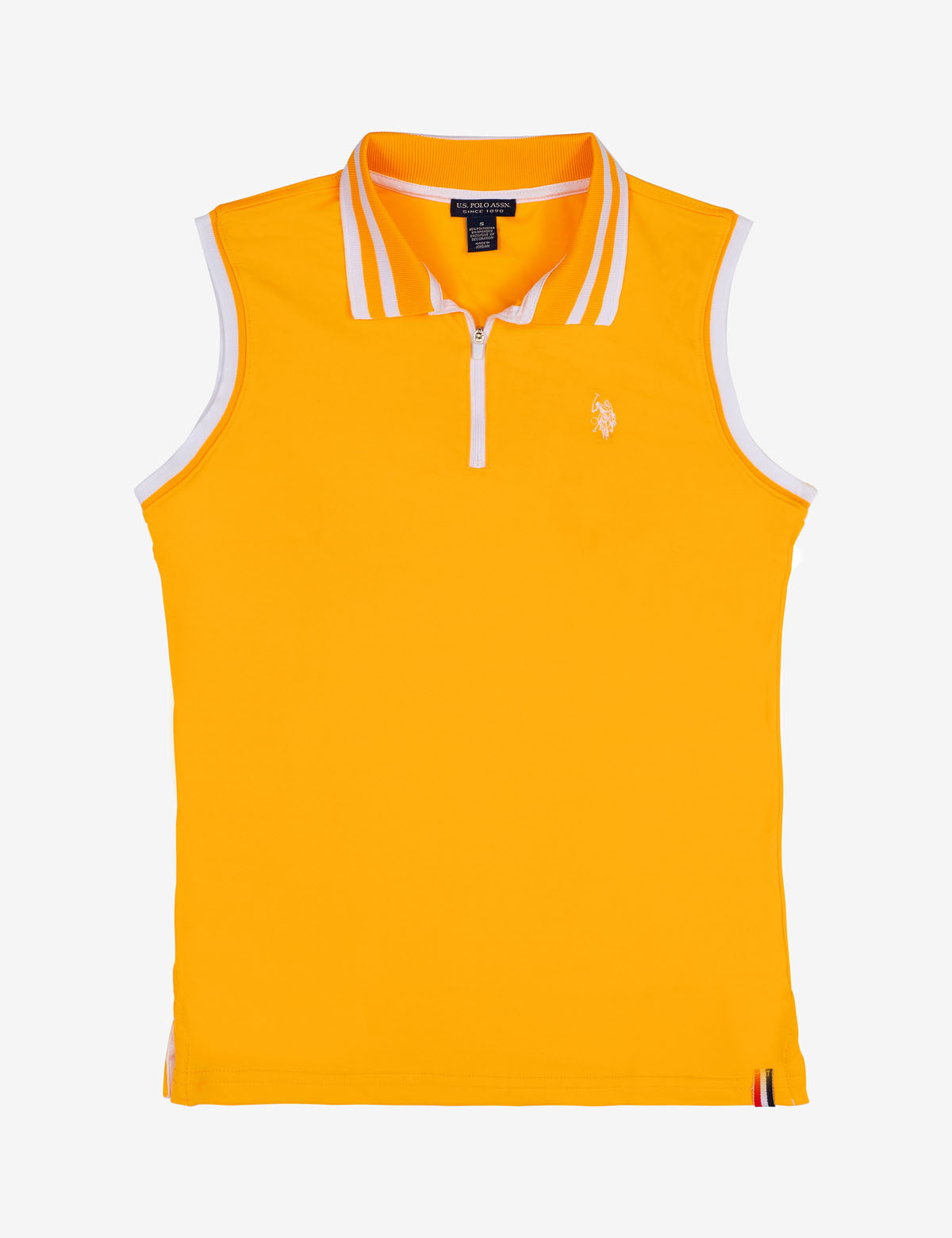 ZIP UP SLEEVELESS SOLID POLO SHIRT - U.S. Polo Assn.