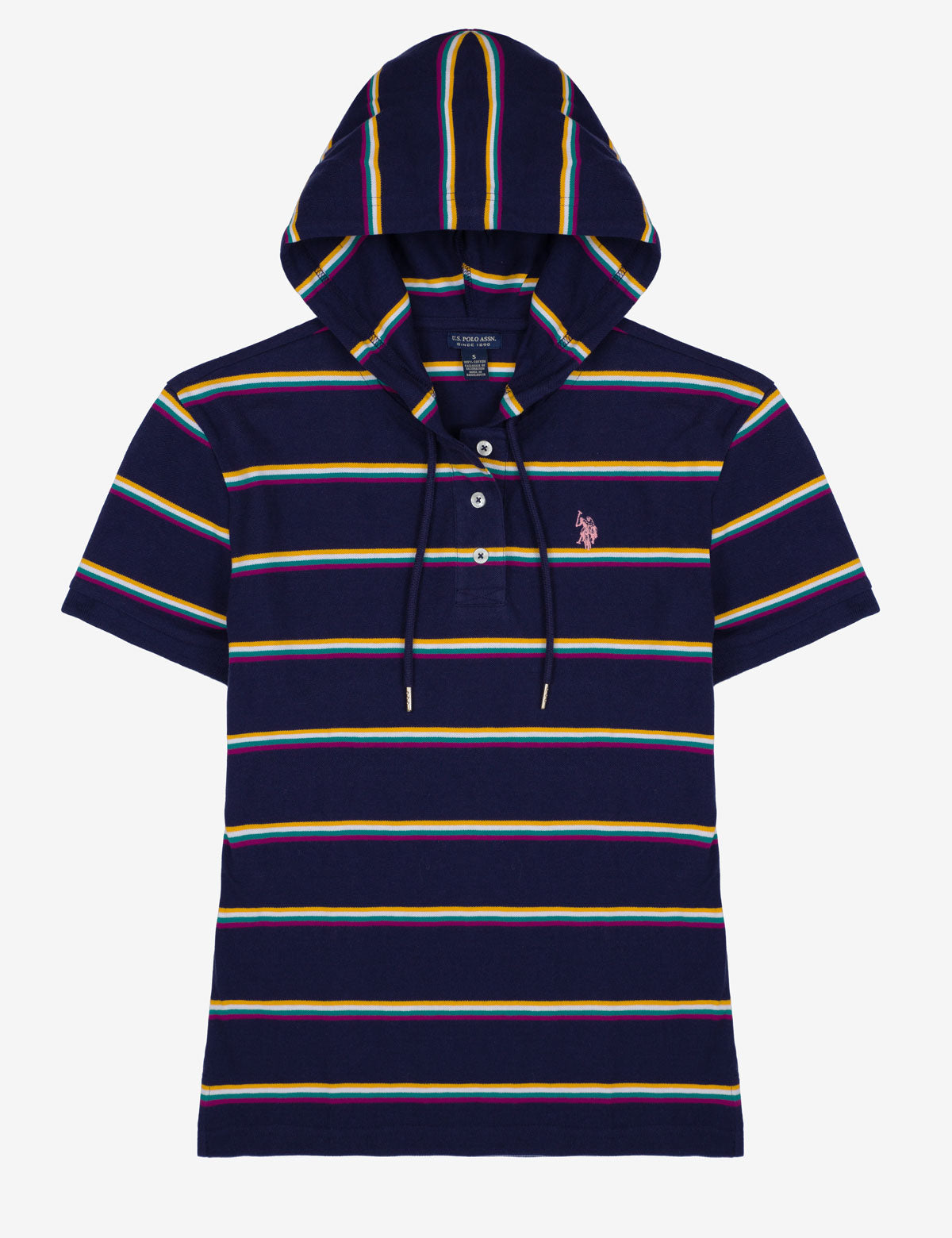 STRIPED SHORT SLEEVE HOODIE - U.S. Polo Assn.