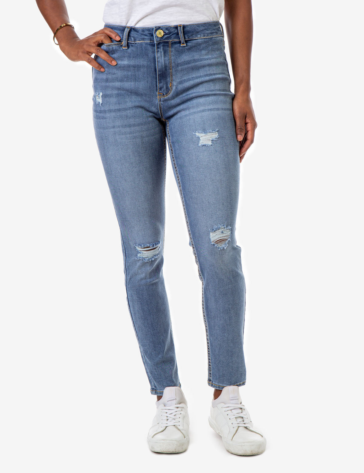 REPREVE® HIGH RISE DESTRUCTED JEANS - U.S. Polo Assn.