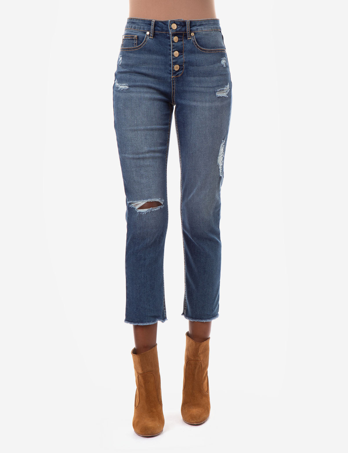 REPREVE® HIGH RISE STRAIGHT CROP JEANS - U.S. Polo Assn.