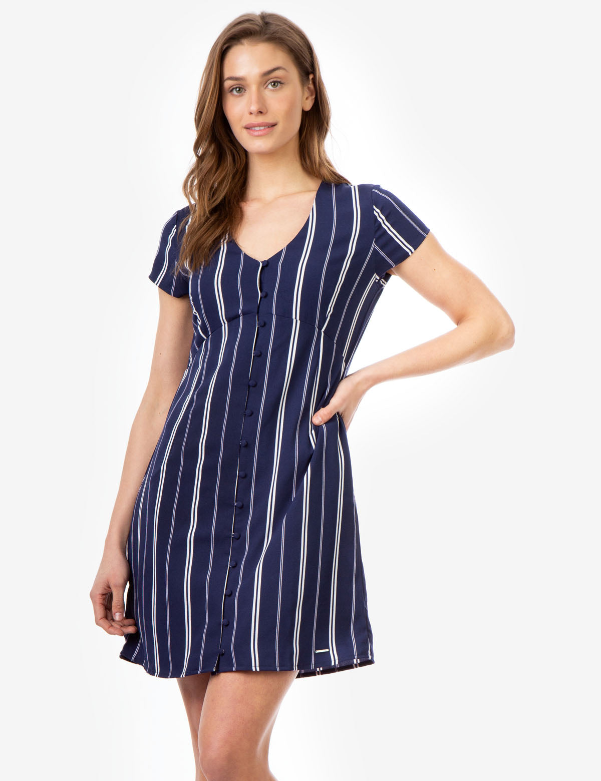 STRIPE BUTTON UP DRESS - U.S. Polo Assn.
