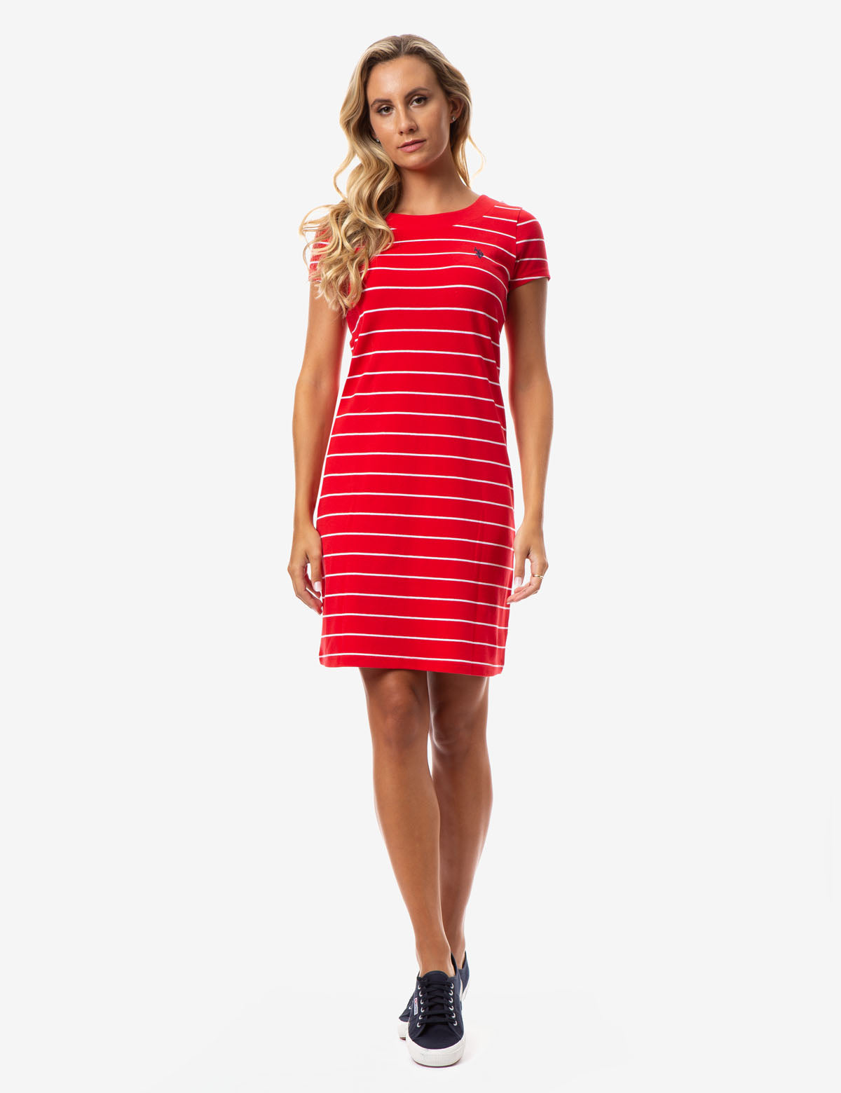STRIPED T-SHIRT DRESS - U.S. Polo Assn.