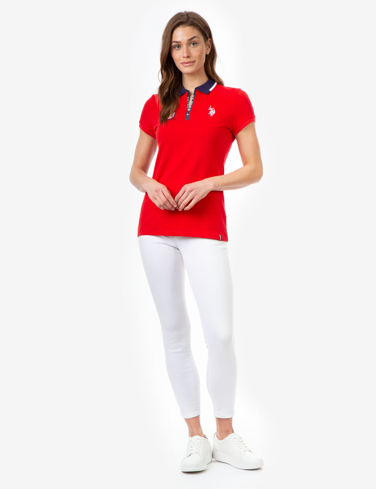 FLAG ZIP-UP POLO SHIRT - U.S. Polo Assn.