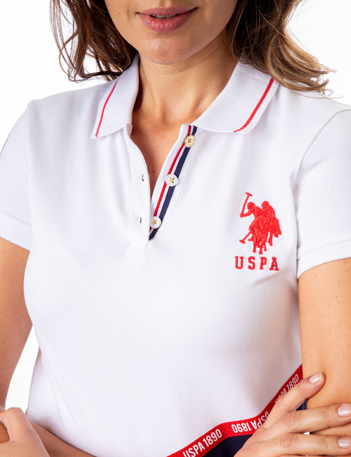 DIAGONAL COLORBLOCK LOGO POLO SHIRT - U.S. Polo Assn.