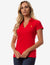 RIBBED V-NECK POLO SHIRT - U.S. Polo Assn.