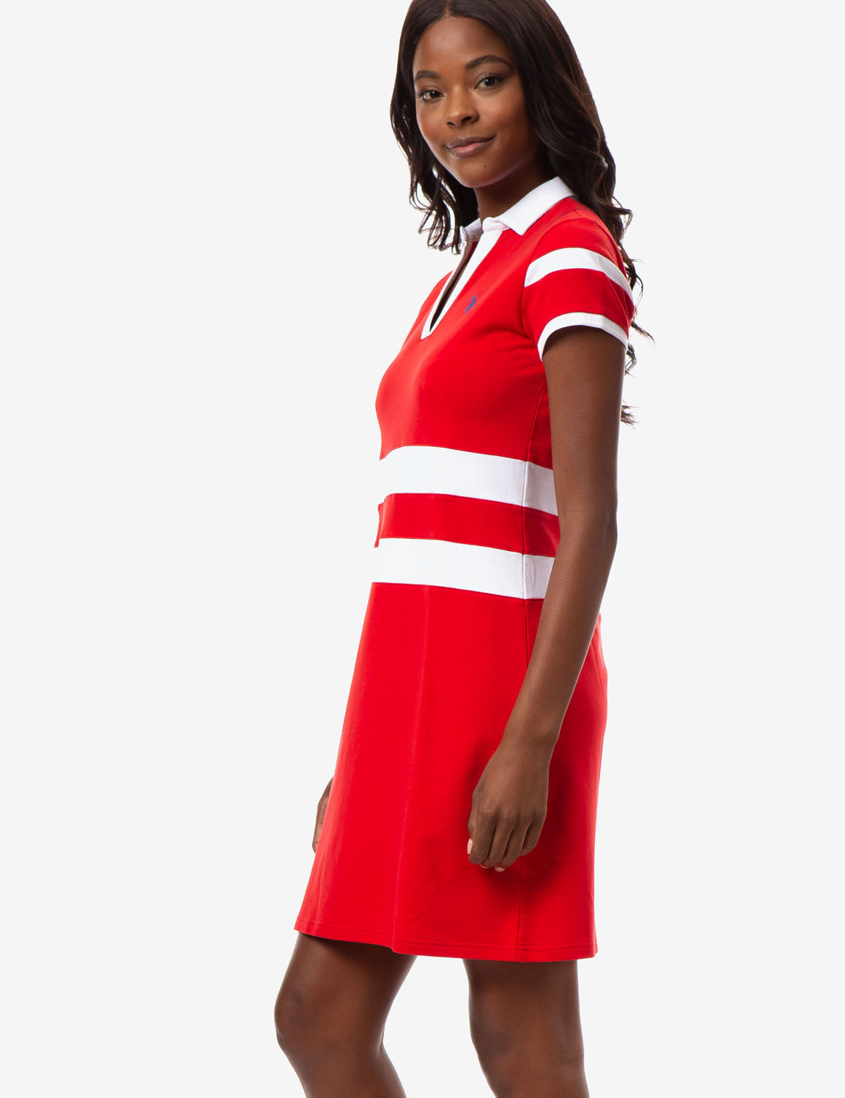 RUGBY STRIPE POLO DRESS - U.S. Polo Assn.
