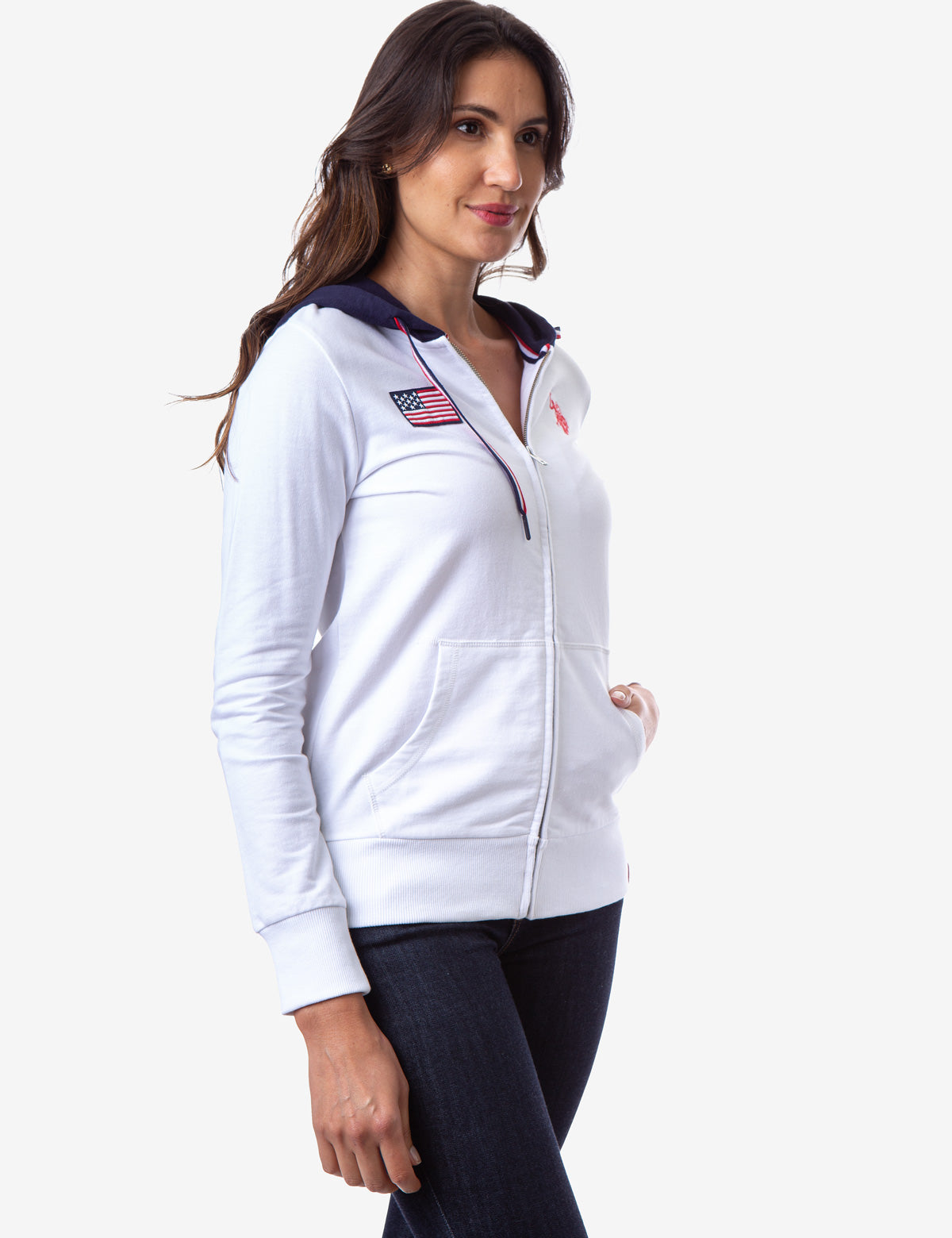 FLAG PATCH ZIP UP HOODIE - U.S. Polo Assn.