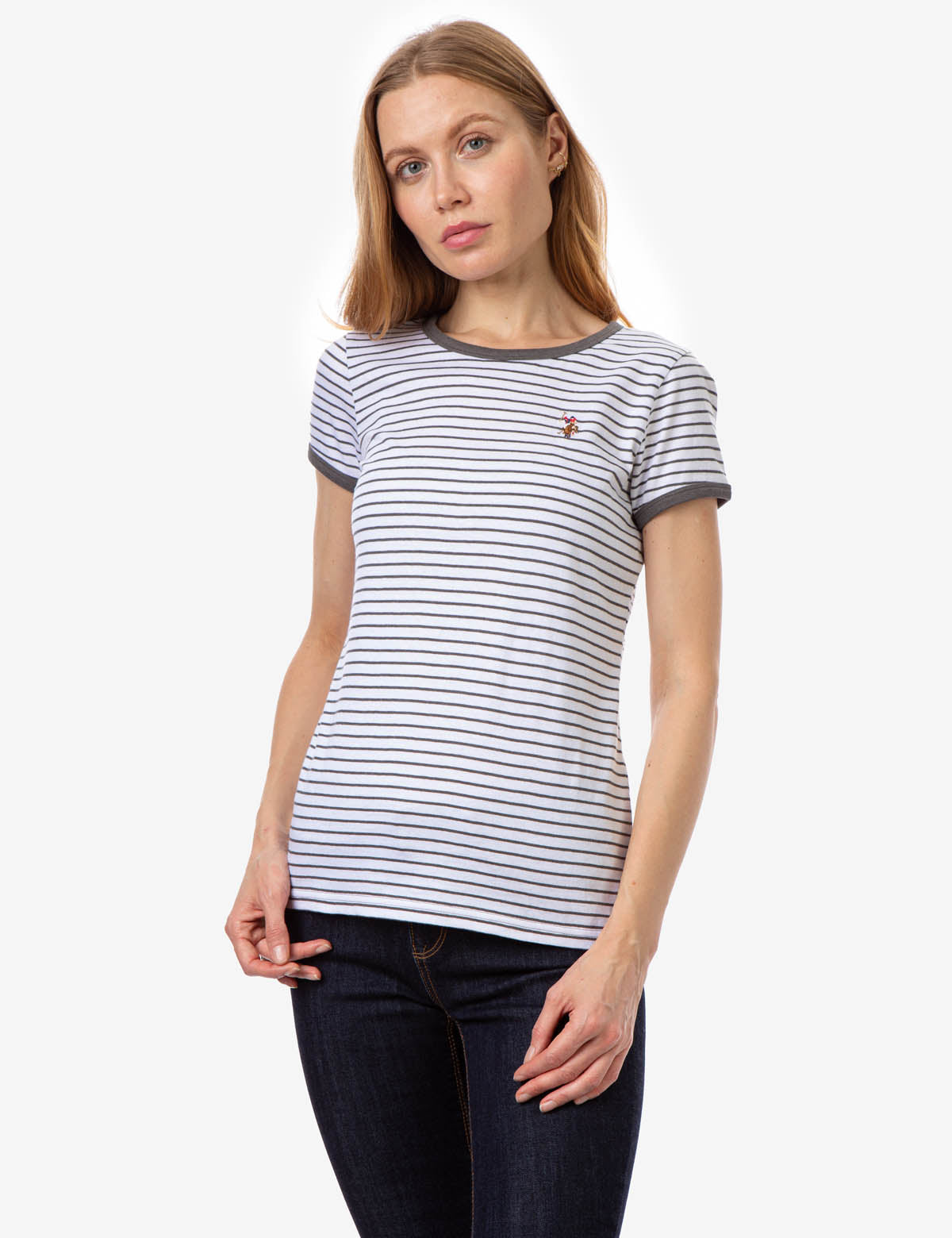 STRIPED YARN DYE RINGER T-SHIRT - U.S. Polo Assn.