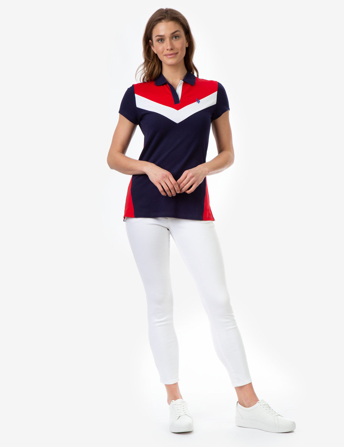 CHEVRON COLORBLOCK POLO SHIRT - U.S. Polo Assn.