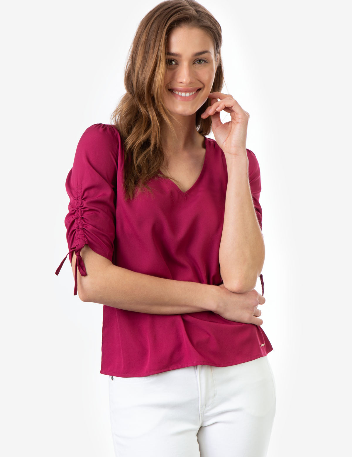 SOLID TIE SLEEVE TOP - U.S. Polo Assn.