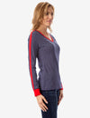 STRIPED V-NECK LONG SLEEVE T-SHIRT - U.S. Polo Assn.