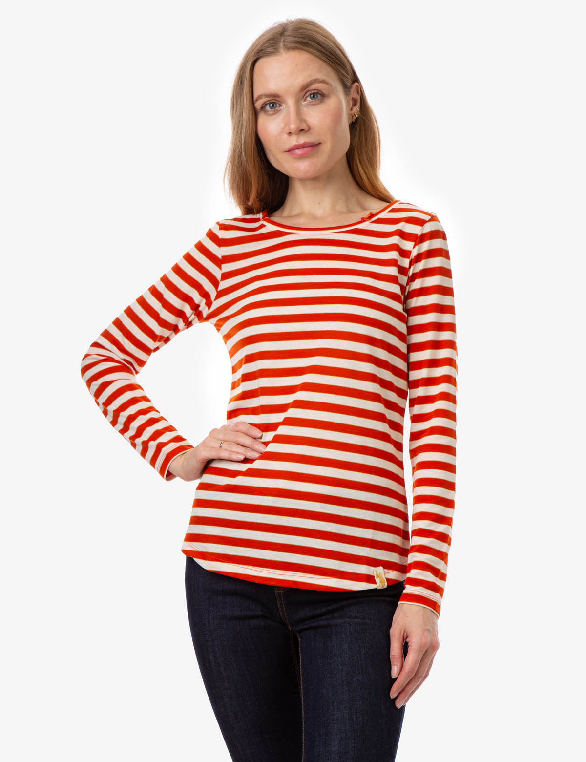 LUREX SHADOW STRIPE LONG SLEEVE T-SHIRT - U.S. Polo Assn.