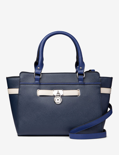 SATCHEL HAND BAG WITH BELTED LOCK - U.S. Polo Assn.