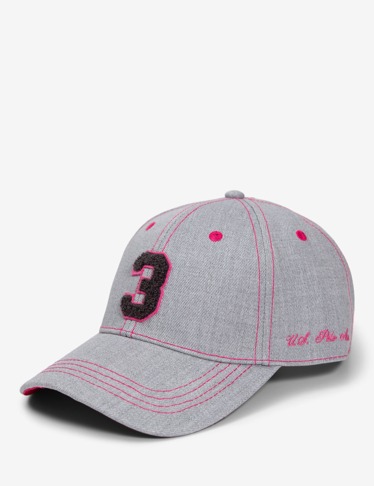 NUMBER 3 BASEBALL HAT - U.S. Polo Assn.