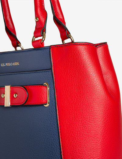 COLORBLOCK HAND BAG - U.S. Polo Assn.