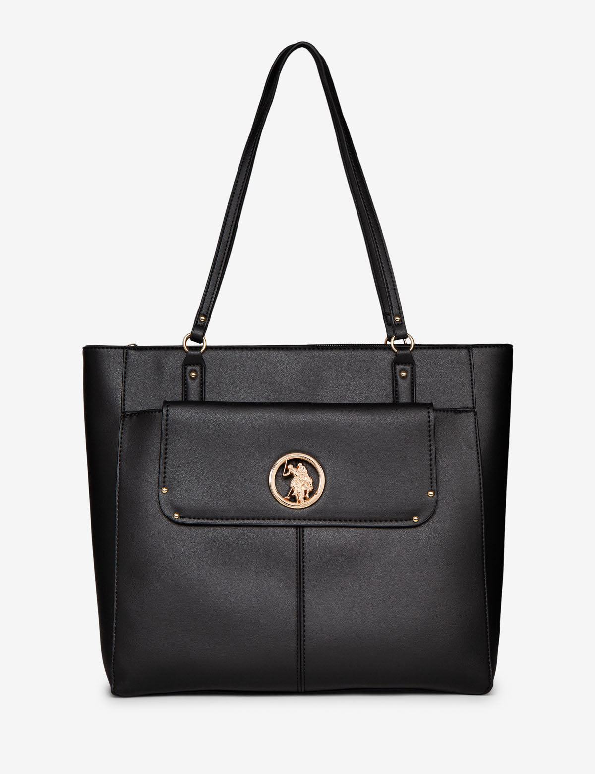 TOTE WITH LOGO MEDALLION
