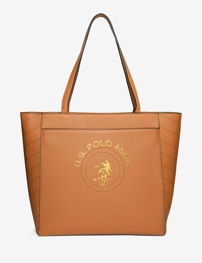 EMBOSSED LOGO TOTE BAG - U.S. Polo Assn.