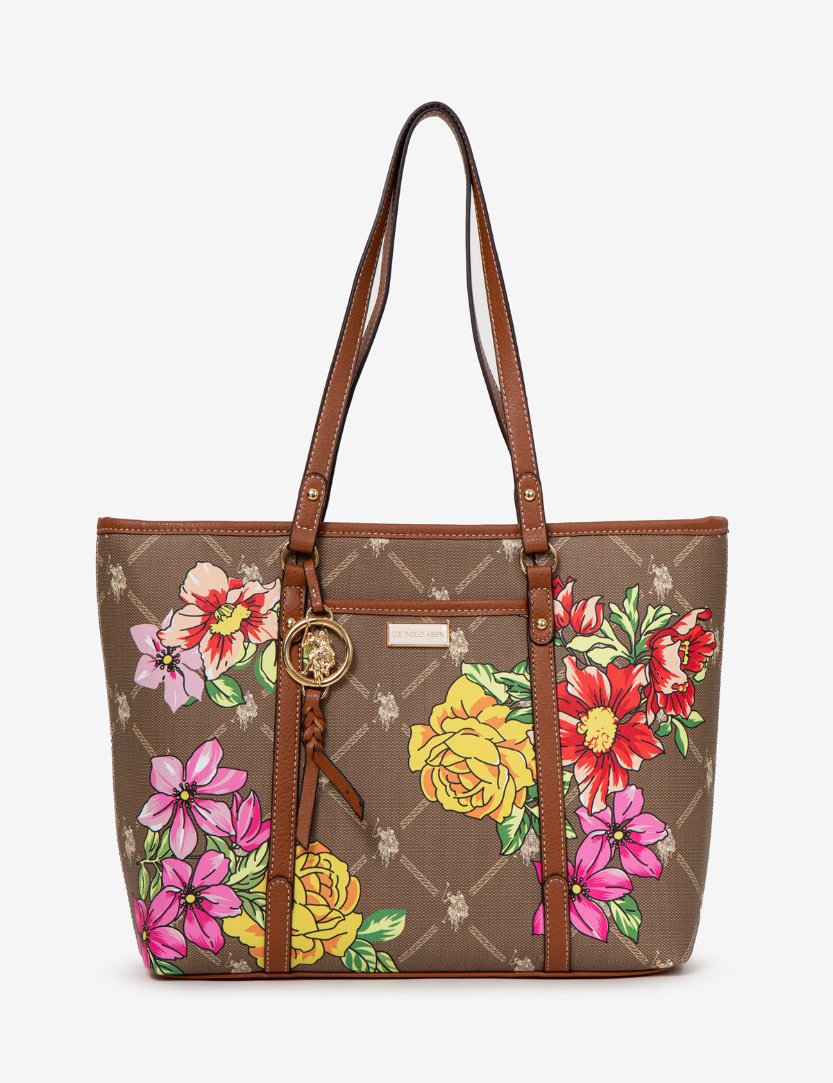 FLORAL SIGNATURE TOTE BAG - U.S. Polo Assn.