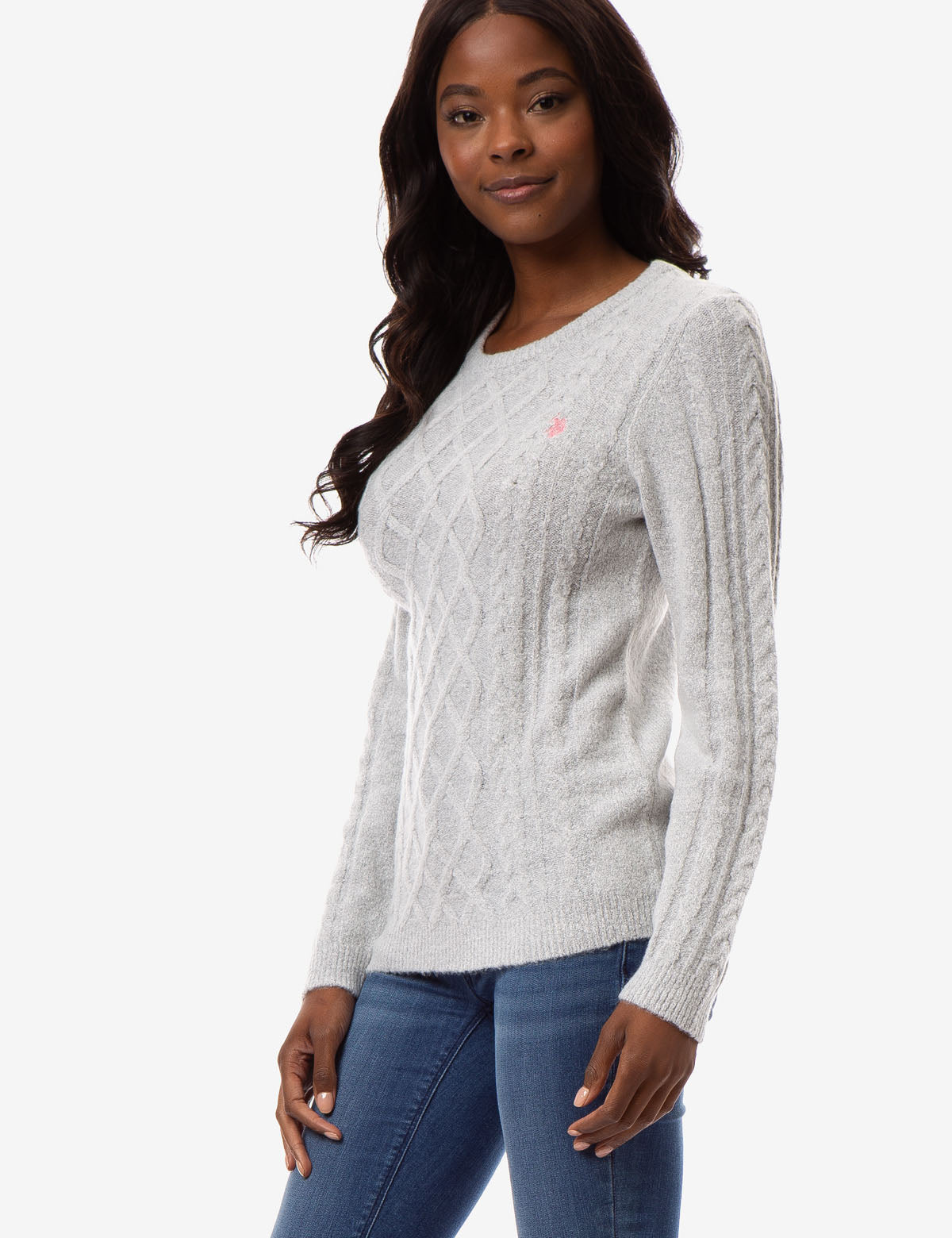 MIXED CABLE CREW NECK SWEATER - U.S. Polo Assn.