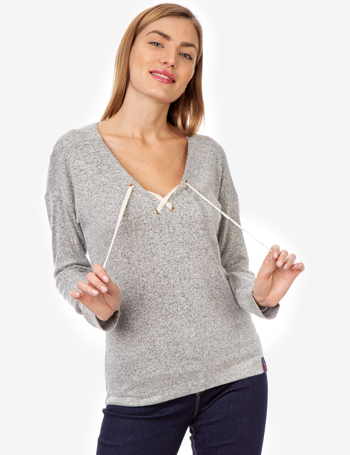 MARLED LACE UP HACCI PULLOVER - U.S. Polo Assn.