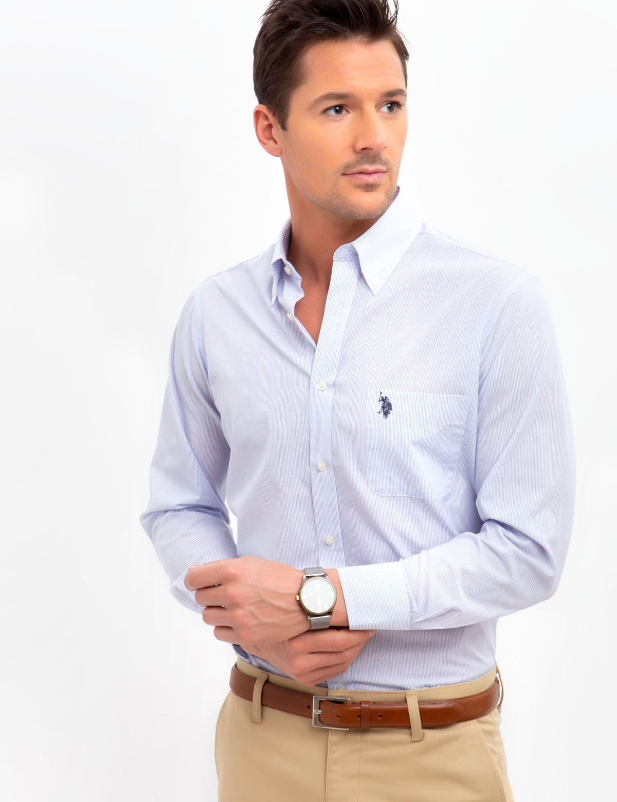 VERTICAL STRIPED DRESS SHIRT