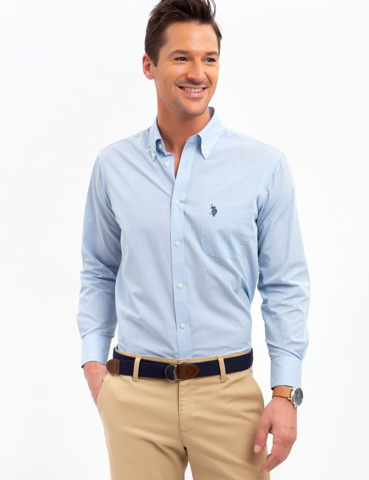 HORIZONTAL STRIPED DRESS SHIRT - U.S. Polo Assn.