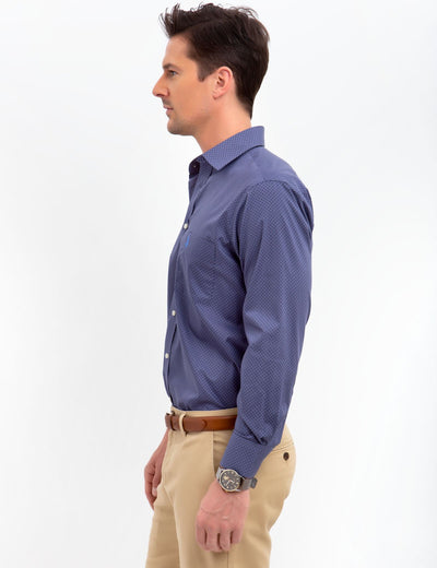 SPREAD COLLAR PRINTED DRESS SHIRT - U.S. Polo Assn.