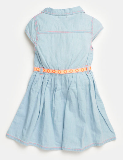 Toddler Denim Pleated Dress