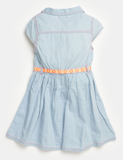 Toddler Denim Pleated Dress - U.S. Polo Assn.