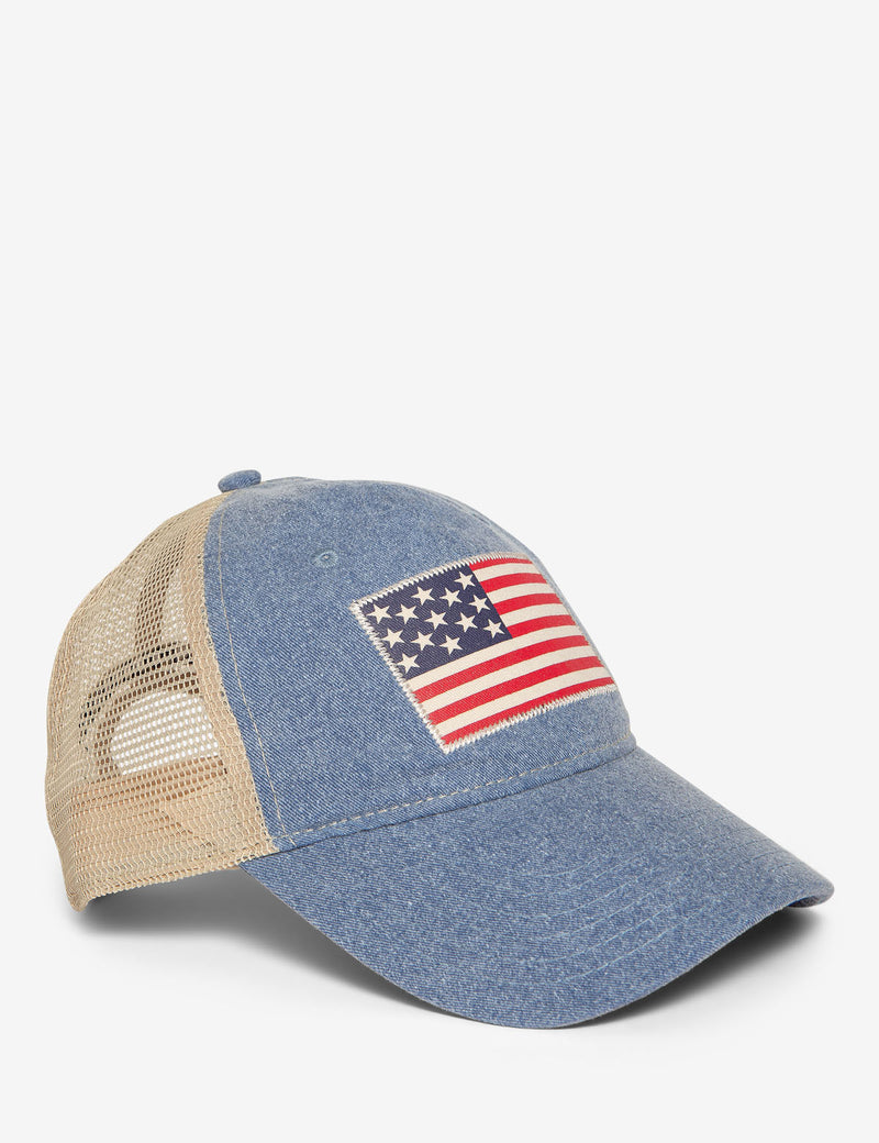FLAG PRINT TRUCKER CAP - U.S. Polo Assn.