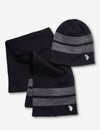 REVERSIBLE BEANIE AND SCARF SET - U.S. Polo Assn.