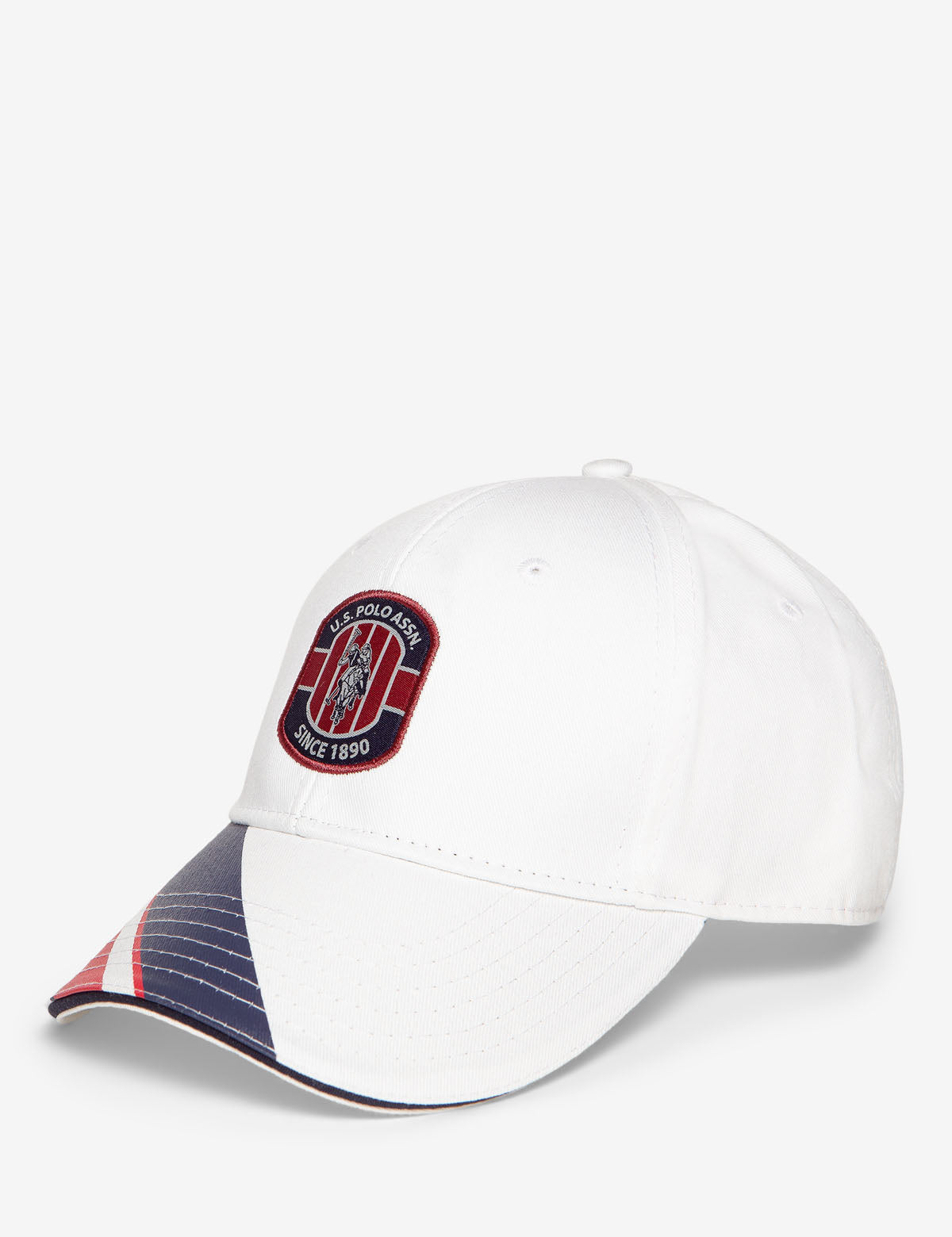 PATCH STRIPE VISOR BASEBALL CAP