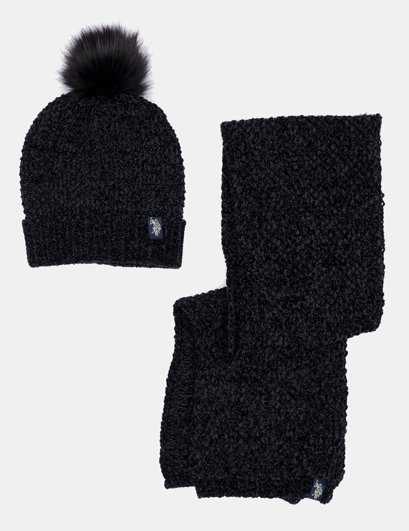 FUR HAT & SCARF SET